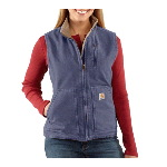Womens Sandstone Mock-Neck Vest, Sherpa Lined