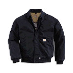 Flame-Resistant All-Season Bomber Jacket, Canvas Blend
