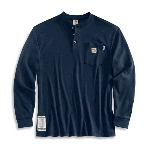 Flame-Resistant Long Sleeve Henley