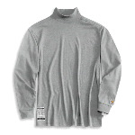 Flame-Resistant Long Sleeve Mock Turtleneck