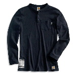 Womens Flame-Resistant Long Sleeve Henley