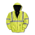 High Visibility Class 3 Thermal-Lined Hooded Zip-Front Sweatshirt