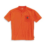 Color Enhanced Short Sleeve Work-Dry® Henley