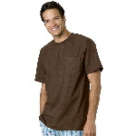 Mens TAGLESS® Short Sleeve Tee with Pocket