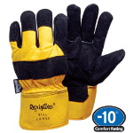 Insulated Cowhide and Canvas Glove