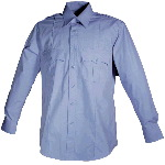 Mens Poly/Cotton Long Sleeve Shirt