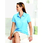 Womens Textured Performance Polo