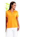 Womens Dry Solid Polo Shirts With Zip