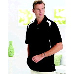 Mens Color Block Performance Polo