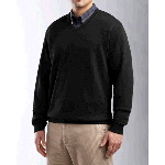 Mens Journey Supima� Flatback V-neck Knit Shirt-Jacket