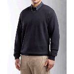 Mens Big & Tall Journey Supima� Flatback V-neck Knit Shirt-Jacket