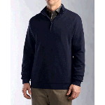 Mens Big & Tall Journey Supima� Flatback Half Zip Knit Shirt-Jacket