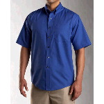 Mens Big & Tall Short Sleeve Epic Easy Care Fine Twill