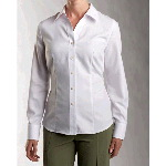 Ladies Long Sleeve Epic Easy Care Wrinkle Free Dobby Blouse