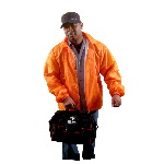 Emergency Orange Lightweight Flannel Lined Windbreaker