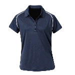 WOMENS DOUBLE PIPING SHORT SLEEVE POLO