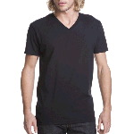 Mens Fitted Short-Sleeve V-Neck Tee