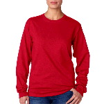 Adult 6.1-oz TAGLESS® Long Sleeve Cotton Tee