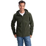 Adult Textured Hooded Soft Shell Jacket