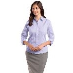 Ladies 3/4-Sleeve Dobby Non-Iron Shirt