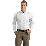 Adult Long Sleeve Herringbone Non-Iron Button-Down Shirt