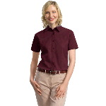 Ladies Short Sleeve Cotton Twill Shirt