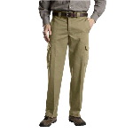 Mens Relaxed Straight Fit Cargo Work Pant
