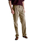 Mens Relaxed Fit Pleated Work Pant