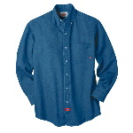 Mens Long Sleeve Button Down Denim Shirt