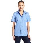 Womens Short Sleeve Stretch Poplin Shirt