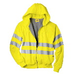 High Visibility Class 3 Fleece Hooded Jacket