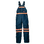 Enhanced Visibility Denim Bib Overall w/ Orange Tape