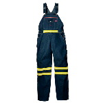 Enhanced Visibility Denim Bib Overall w/ Yellow Tape