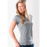 Syntrel Womens Vegas-W Short Sleeve Heather Tech Tee