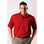 Syntrel Mens Hastings Jacquard Mesh Polo