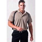 Syntrel Mens Plantation Curved Color Block Golf Shirt