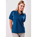 Womens Plantation-W Curved Color Block Golf Shirt