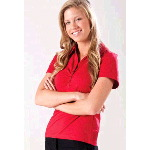 Womens Chelsea Gathered Placket Polo