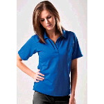 Womens Palmetto-W Textured Saddle Shoulder Golf Shirt