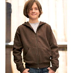 Youth Fleece Hooded Zip-Front Sweatshirt with Pockets