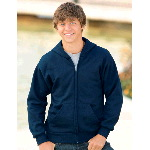 Youth ComfortBlend® Full-Zip Fleece Hoodie