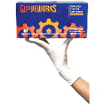 Gloveworks Powder Free, Textured Latex Gloves