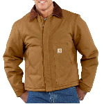 Mens Duck Traditional Jacket, Arctic Quilt Lined