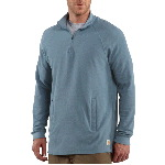Mens Textured-Knit Zip Mock Shirt