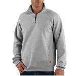 Mens Midweight Quarter-Zip Mock-Neck Sweatshirt
