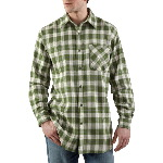 Mens Lightweight Long Sleeve Flannel Plaid Shirt