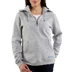 Womens Quarter-Zip Script Logo Sweatshirt