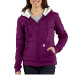 Womens Sherpa Hooded Sweatshirt