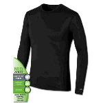 Mens Varitherm® Mid Weight Brushed Back Poly Long Sleeve Crew