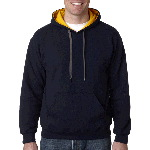 Adult Heavy BlendTM Contrast 50/50 Hooded Sweatshirt